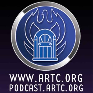 The ARTC podcast logo with website