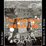 The Dunwich Horror LIVE graphic, depicting a house disguising a tentacled underground horror. Artwork by C. M. Dotson